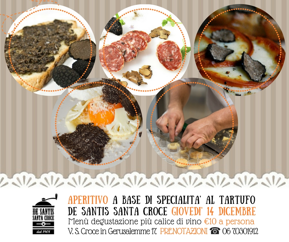 Serata Degustazione menù con specialità al tartufo