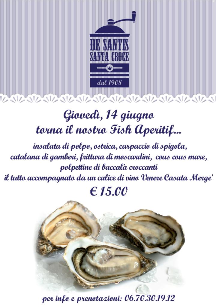 l'aperitivo a Roma - Fish aperitivo De Santis Santa Croce - pesce freschissimo
